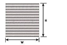 Pattern Sheet PS-24 Corrugated Siding Scale:1:48 W:175mm L:275mm (Pack of 2)