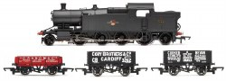 Class 72xx BR 2-8-2 '7224'  BR Late Crest with 3 Plank Wagons Train Pack