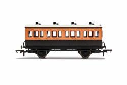 LSWR, 4 Wheel Coach, 1st Class, 123 - Era 2