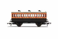 LSWR, 4 Wheel Coach, 3rd Class, 302 - Era 2