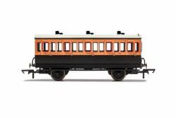 LSWR, 4 Wheel Coach, 3rd Class, 308 - Era 2
