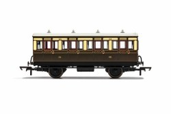 GWR, 4 Wheel Coach, 1st Class, 143 - Era 2/3