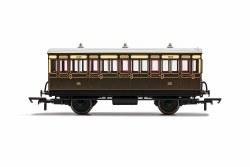 GWR, 4 Wheel Coach, 3rd Class, 1889 - Era 2/3