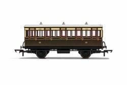 GWR, 4 Wheel Coach, 3rd Class, 1882 - Era 2/3