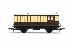 GWR, 4 Wheel Coach, Brake Baggage, 1411 - Era 2/3