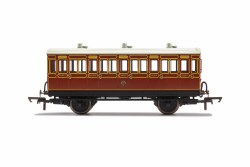 LB&SCR, 4 Wheel Coach, 3rd Class, 882 - Era 2