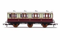 LNWR, 6 Wheel Coach, 1st Class, 1889 - Era 2