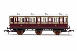 LNWR, 6 Wheel Coach, 3rd Class, 1523 - Era 2
