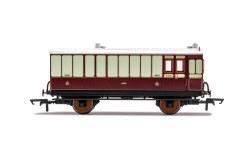 LNWR, 4 Wheel Coach, Brake Baggage, 9645 - Era 2