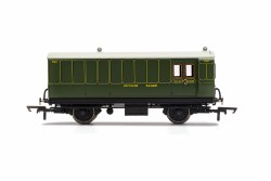 SR, 4 Wheel Coach, Brake Baggage, 762 - Era 3