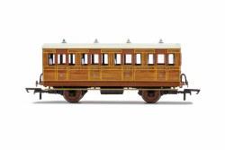 GNR, 4 Wheel Coach, 1st Class, Fitted Lights, 1534 - Era 2