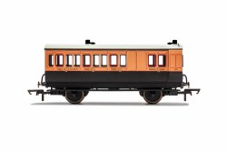 LSWR, 4 Wheel Coach, Brake 3rd Class, Fitted Lights, 179 - Era 2