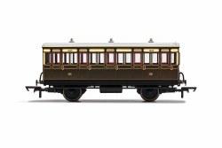 GWR, 4 Wheel Coach, 3rd Class, Fitted Lights, 1889 - Era 2/3