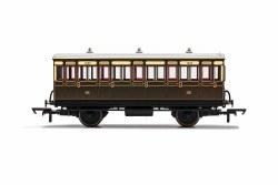 GWR, 4 Wheel Coach, 3rd Class, Fitted Lights, 1882 - Era 2/3