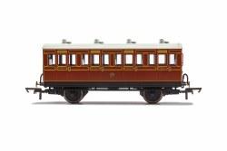 LB&SCR, 4 Wheel Coach, 1st Class, Fitted Lights, 474 - Era 2