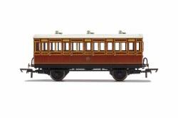 LB&SCR, 4 Wheel Coach, 3rd Class, Fitted Lights, 882 - Era 2