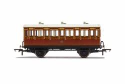 LB&SCR, 4 Wheel Coach, 3rd Class, Fitted Lights, 881 - Era 2