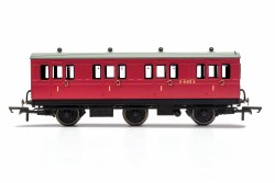 BR, 6 Wheel Coach, 1st Class, Fitted Lights, E41373 - Era 4