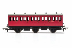 BR, 6 Wheel Coach, 3rd Class, Fitted Lights, E31085 - Era 4