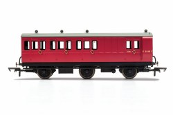 BR, 6 Wheel Coach, Brake 3rd Class, Fitted Lights, E31185 - Era 4