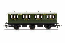 SR, 6 Wheel Coach, 1st Class, Fitted Lights, 7514 - Era 3