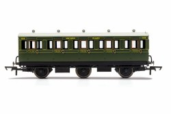 SR, 6 Wheel Coach, 3rd Class, Fitted Lights, 1908 - Era 3