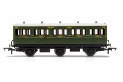 SR, 6 Wheel Coach, 3rd Class, Fitted Lights, 1909 - Era 3
