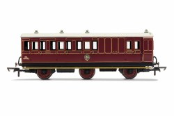 NBR, 6 Wheel Coach, Unclassed (Brake 3rd) Coach, Fitted Lights, 472 - Era 2