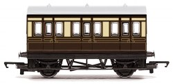 Four Wheeled Coach GWR Chocolate & Cream