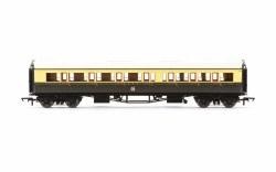 Collett 'Bow Ended' Composite Corridor Left Hand 6528 GWR Chocolate & Cream (Crest)