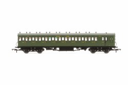 Maunsell 58' Rebuilt (Ex-LSWR 48') Eight Compartment Brake Third 2636 SR Maunsell Olive Green