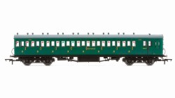 Maunsell 58' Rebuilt (Ex-LSWR 48') Eight Compartment Brake Third 2638 SR Malachite Green