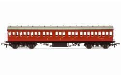 Stanier 57' Period III Composite Non-Corridor M16635M BR Crimson