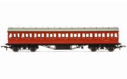 Stanier 57' Period III Composite Non-Corridor M11973M BR Crimson
