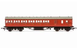 Stanier 57' Period III Brake Third Non-Corridor M20737M BR Crimson