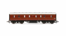 Stanier 50' Period III Full Brake 31010 LMS Crimson Lake