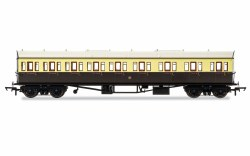 Collett 'Bow Ended' E131 Nine Compartment Composite Right Hand 6362 GWR Chocolate & Cream (Shirtbutton)