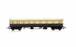 Collett 'Bow Ended' E131 Nine Compartment Composite Right Hand 6627 GWR Chocolate & Cream (Shirtbutton)