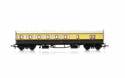 Collett 'Bow Ended' D98 Six Compartment Brake Third Left Hand 5503 GWR Chocolate & Cream (Shirtbutton)