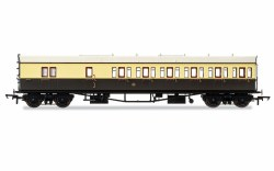 Collett 'Bow Ended' D98 Six Compartment Brake Third Right Hand 4972 GWR Chocolate & Cream (Shirtbutton)