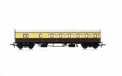 Collett 'Bow Ended' D98 Six Compartment Brake Third Right Hand 5504 GWR Chocolate & Cream (Shirtbutton)