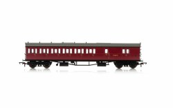 Collett 'Bow Ended' D98 Six Compartment Brake Third Left Hand W4949W BR Crimson