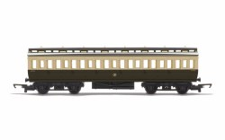 Clerestory Third Coach GWR Chocolate & Cream (Shirtbutton)