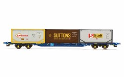 Touax, KFA Container Wagon, with 3 x 20' Tanktainers - Era 11