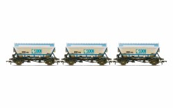 ECC, CDA Hoppers, weathered, three pack - Era 8