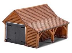 Modern Timber Garage