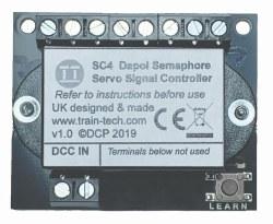 DCC Signal Controller for two Dapol Servo Semaphore Signals
