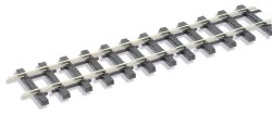Wooden sleeper type nickel silver rail