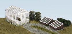 Greenhouse and Cold Frames including glazing material