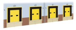 HGV Loading Bay Detail Pack 4 per pack